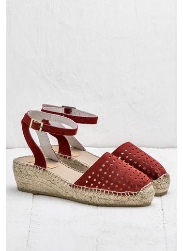 Elle Bilekten Bağlamalı Sandalet Kırmızı